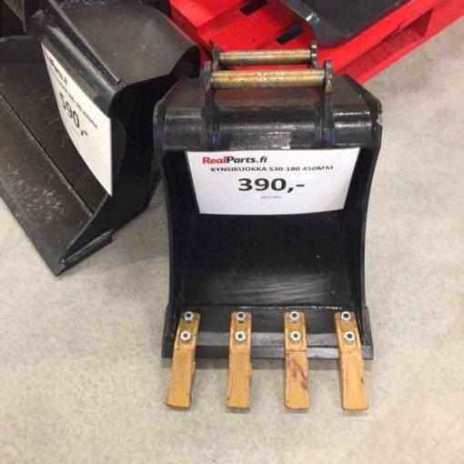 Kuokkakauha kynsillä S30-180 450mm