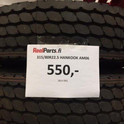 315/80R22.5 Hankook AM06 rengas