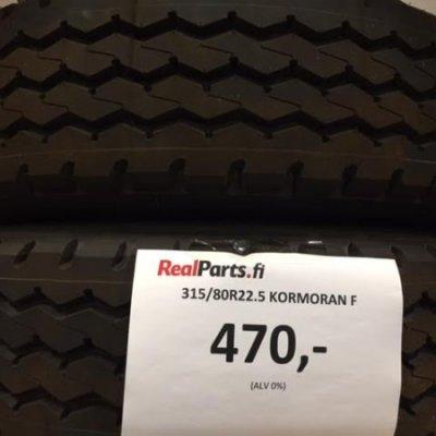 315/80R22.5 Kormoran F rengas