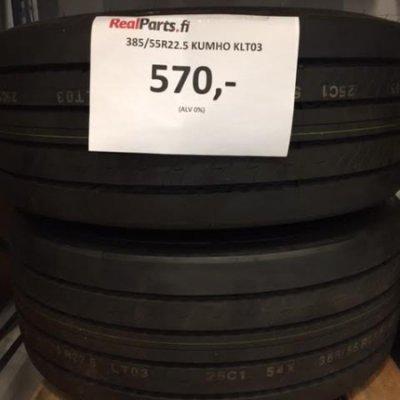 385/55R22.5 Kumho KLT03 rengas
