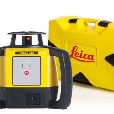 Leica Rugby 610 pyörivä laser ja kuljetuslaukku