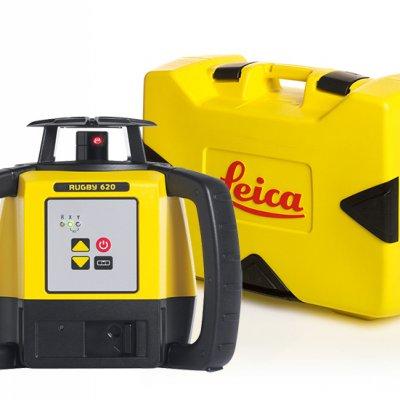 Leica Rugby 620 pyörivä laser ja kuljetuslaukku