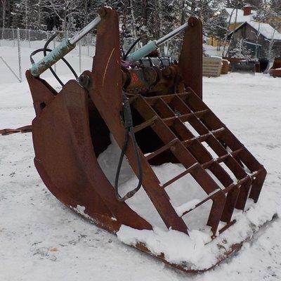Niskakankaan Terästuote Oy Huulikuokkakauha verkkopihdillä NTP20 1450mm (KL1018)