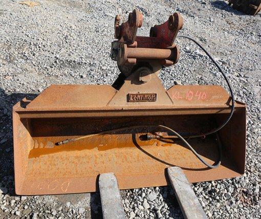 Lehnhoff Kallistuva luiskakauha 1600mm ja vaakasylinterimallin liitin (KL1040) käytetty