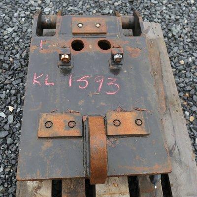Iskuvasaran kiinnikelevy NTP20/30 (KL1593) käytetty