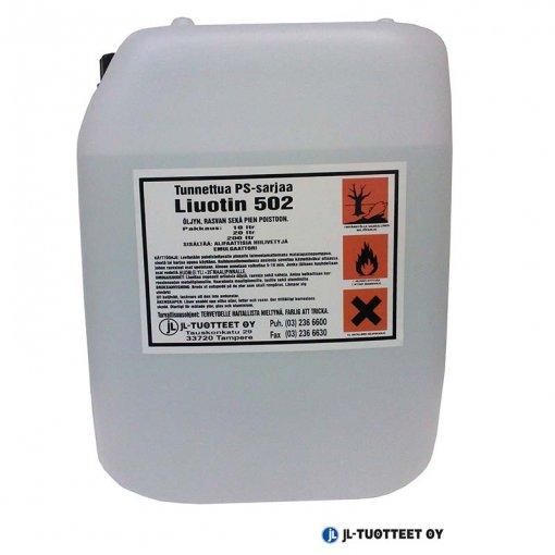 JL-Tuotteet PS-liuotin 502 öljyn, rasvan, pien poistoon 5 x 25 ltr (rahtivapaasti)