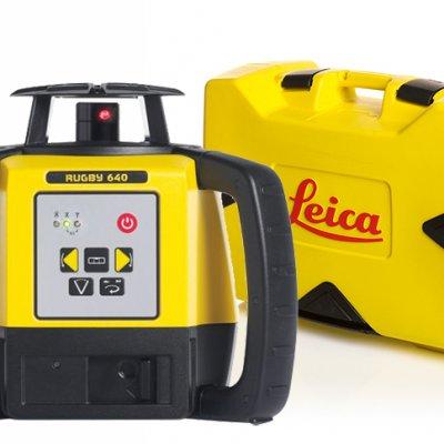 Leica Rugby 640 pyörivä laser ja kuljetuslaukku